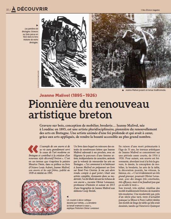 Pionnière du renouveau artistique breton