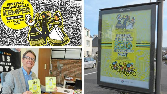 visuel 2018 de la mairie de Quimper (Photos Ouest-France).
