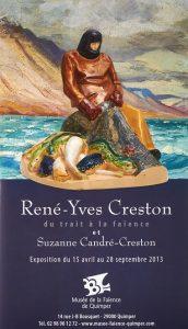 René-Yves Creston du trait à la faïence et Suzanne Candré-Creston.