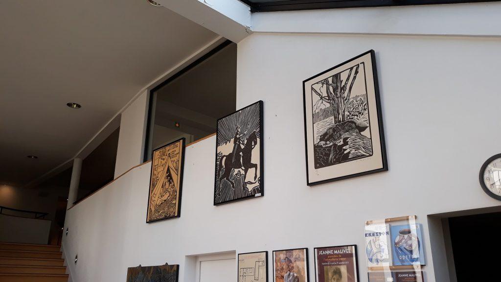 Entrée du Musée -Exposition Jeanne Malivel.