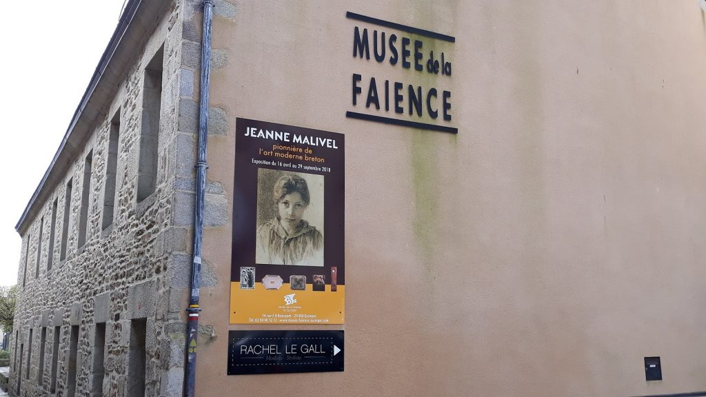 Affiche de l'exposition Jeanne Malivel.