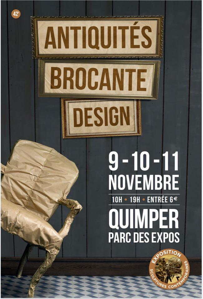 Affiche du Salon des antiquaires de Quimper.