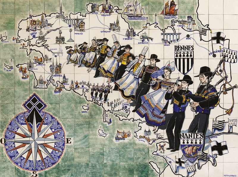 Carte de Bretagne de R. Micheau-Vernez