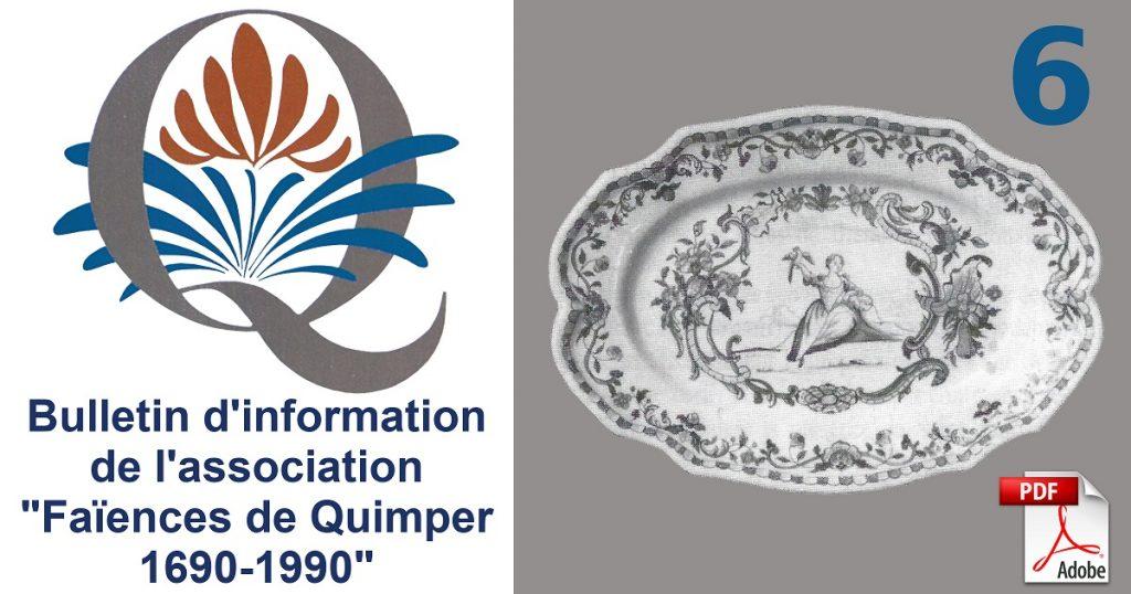 Plat oval chantourné - Rouen ou Quimper